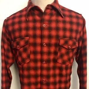 Woolrich Buffalo Plaid Flannel Shirt Mens Sz 16 XL